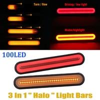 2pcs 12 24V LED Truck Trailer Lights Stop Flowing Turn Signal Brake Rear Tail Light Neon IP67 Waterproof