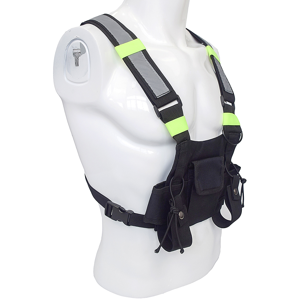 Image 3 - Outdoor Military Tactical Vest Highly Visible Reflective Radio Harness Chest Rig Outdoor Clothing Hunting Vest-in Hunting Vests from Sports & Entertainment