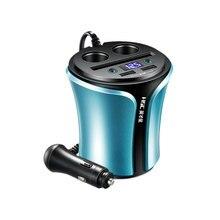 HSC Multi-function дисплей автомобильное зарядное устройство для мобильного телефона Напряжение 3.1A 2USB gps со светодиодный вольтметр двойной авто прикуриватели