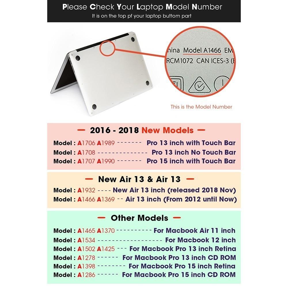 Image 5 - Лидер продаж, чехол для ноутбука MacBook, чехол для ноутбука MacBook Air Pro retina 11 12 13,3 15,4 дюймов с защитой экрана клавиатуры-in Сумки и чехлы для ноутбука from Компьютер и офис