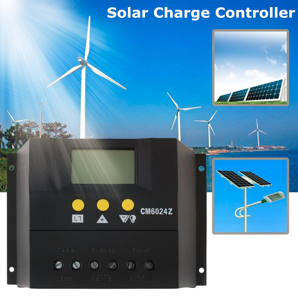 Solar Charge Controller Auto PWM Battery Charger 12V 24V 1920W MAX PWM Charging Mode 80A Regulator ABS Short-circuit Protection max short