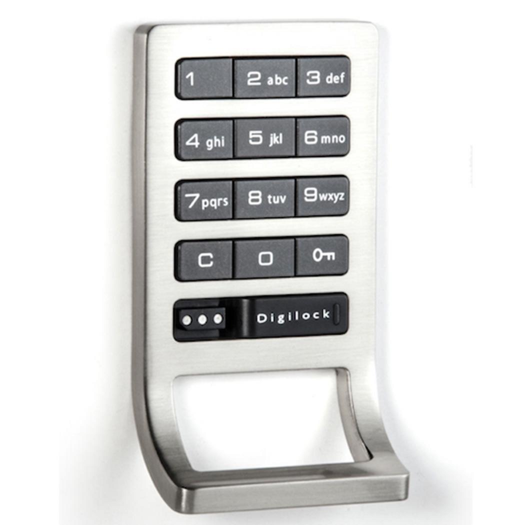 Silver Home Smart Electronic Digital Door Keyless 200mA Password 4 x AA Batteries more than 6 months Cabinet DC6V