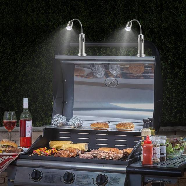 2 шт. Магнитный BBQ светодиод гриль светильник регулируемый 360 градусов гибкий s образный дизайн настольная лампа для вечерние офисные открытый гриль барбекю