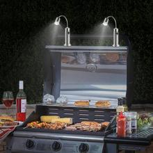2 pièces barbecue magnétique Led gril lumière réglable 360 degrés Flexible col de cygne lampe de bureau pour fête bureau extérieur barbecue intérieur