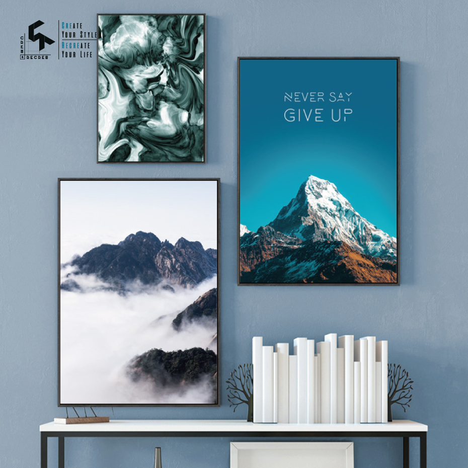 CREATE&RECREATE Nordic Poster Mountain Landscape Posters And Prints Wall Sky Canvas Paintings Decorative Pictures CR1810105024