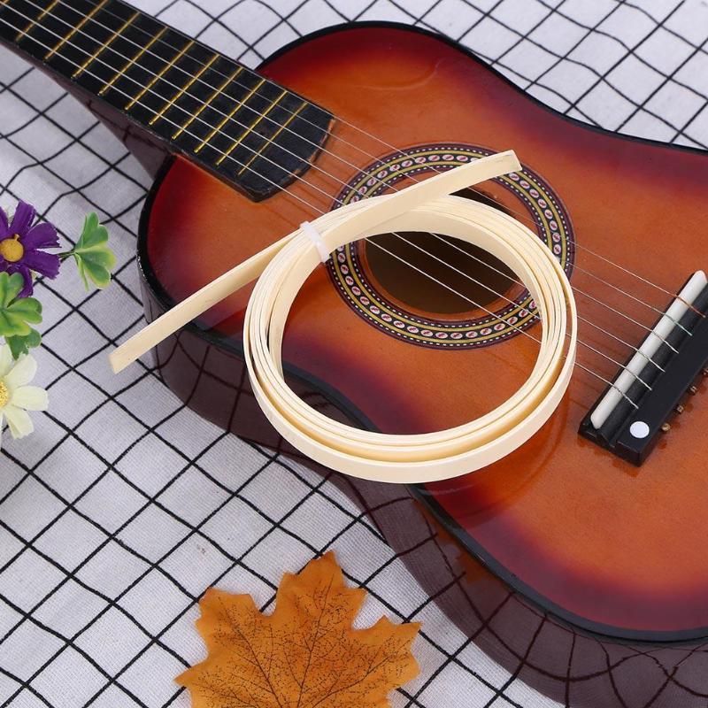 Plastic Guitar Binding Purfling Strips 10mm Guitar Accessories ABS Cream Ivory Color Guitar Binding Inlay Purfling Strip