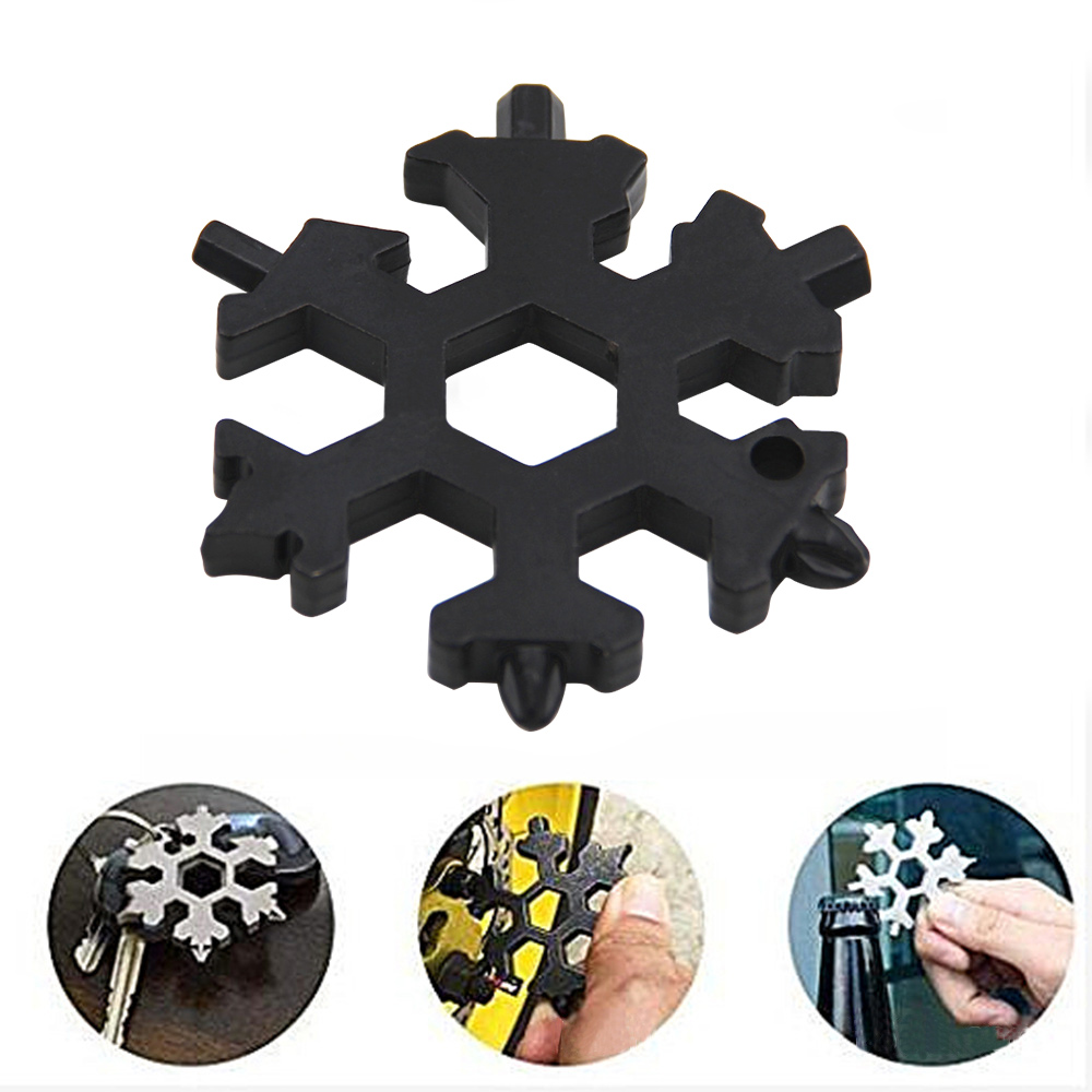 EDC Tool Multi-tool Snowflake Card Combination Stainless Steel Snowboarding Screwdriver Wrench Bottle Opener Outdoor Tool Card