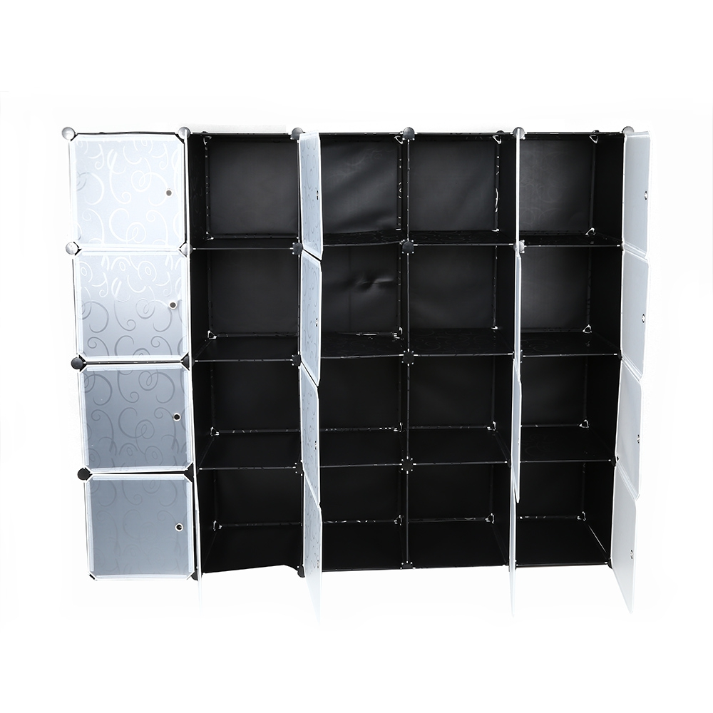A 20 Cube Clothes Closet Modular Wardrobe High Quality Resin Shoes Storage Rack Organizer Easy Emble 175 36 140cm In Wardrobes From Furniture On