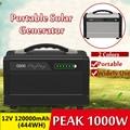 1000 W Max 120000 mAh Inverter Tragbare Solar Generator UPS Reine Sinus Welle Power Versorgung USB LCD Display Energie Lagerung outdoor