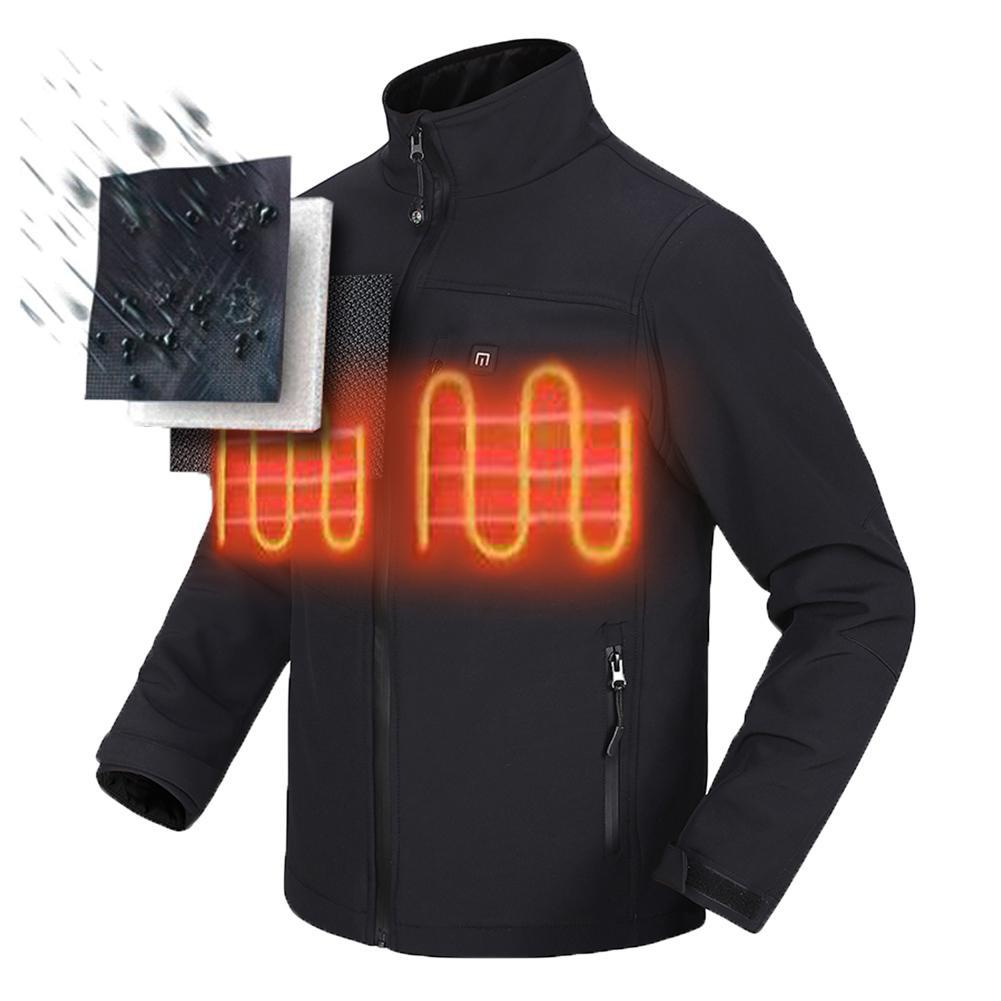 hot Winter USB Carbon fiber infrared heating Men Women jacket outdoor camping climbing trekking Electric Warm windproof coat
