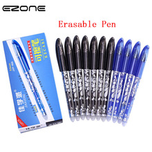 EZONE 5pcs 0.5mm Erasable Pen Black Blue Ink Gel Erasable Pen With Special Eraser Replace Ink Office School Stationery Supply цена 2017