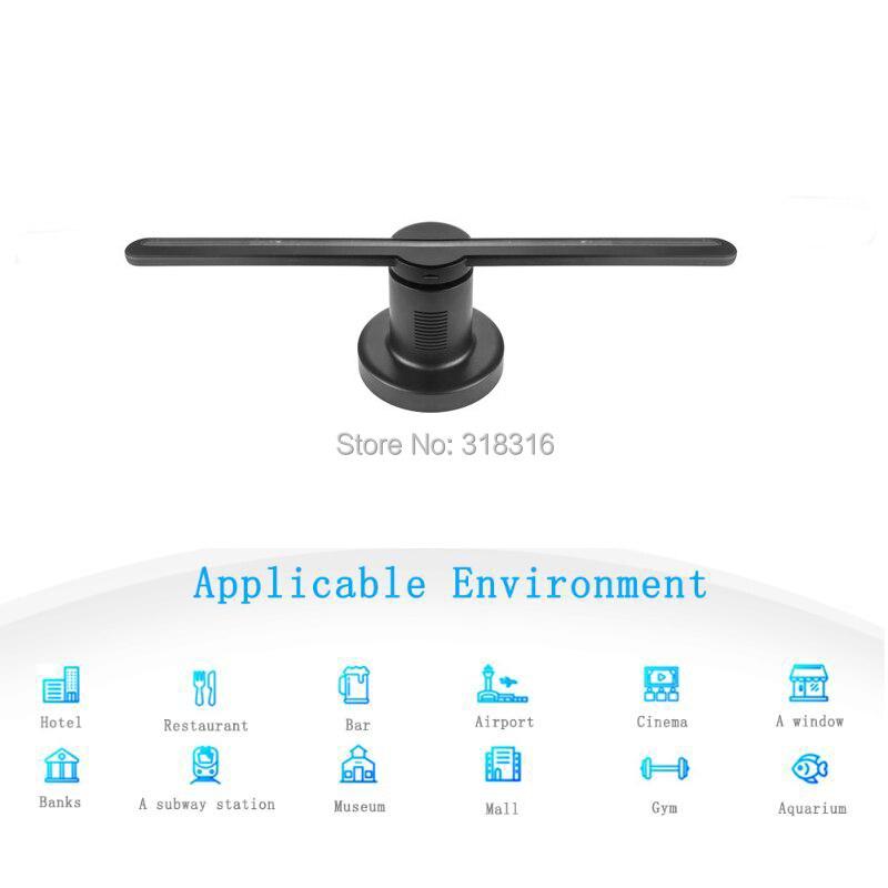 Últimas 42 DISPLAMAX centímetros cartão SD Novo Design Display de Alta Resolução 3D Holograma para Publicidade