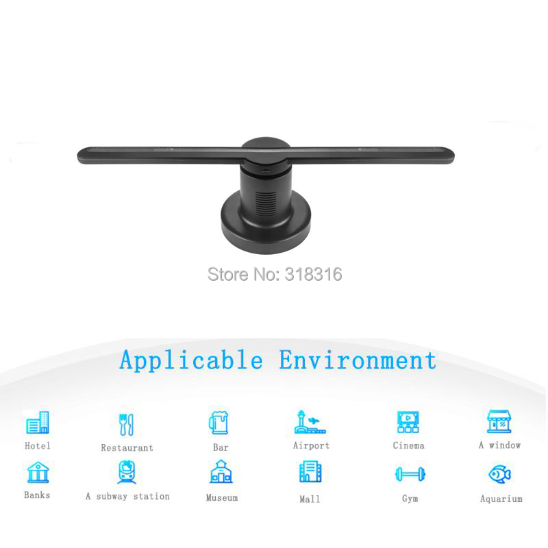 DISPLAMAX последние 42 см SD карты новый дизайн Высокое разрешение дисплей 3D голографический вентилятор для рекламы