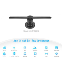 DISPLAMAX Latest 42cm SD card New Design High Resolution Display 3D Hologram Fan for Advertising