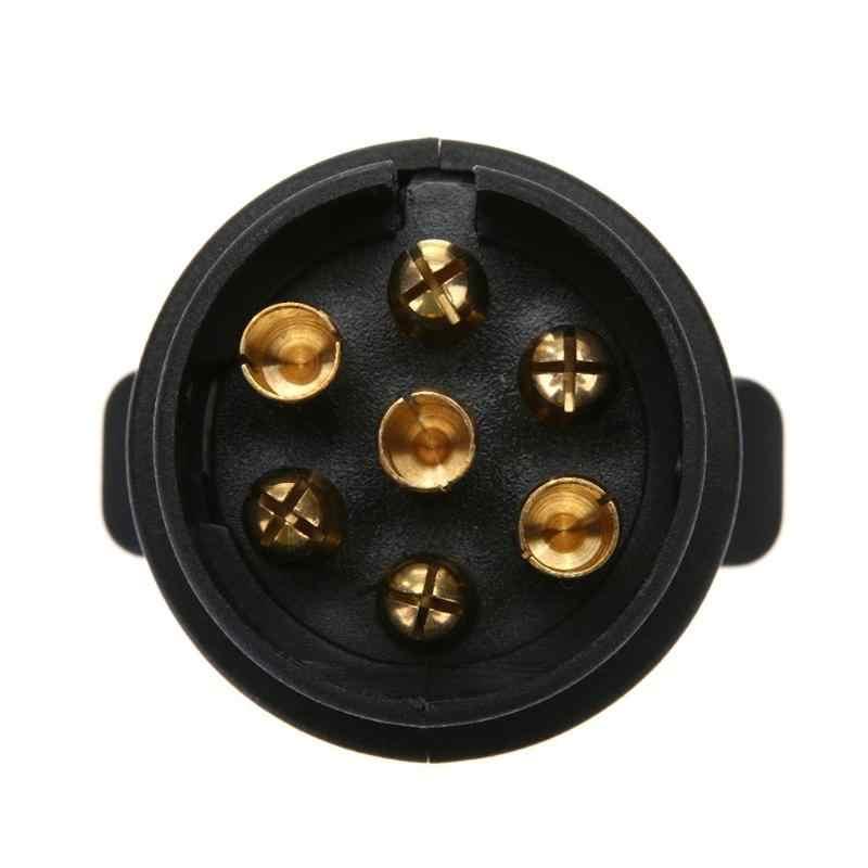 12V 7-Manier Ronde Plastic Rv Trailer Plug 7 Pin Plug Adapter Elektrische Converter Ronde Socket Truck Trailer connector