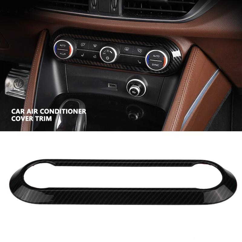 Carbon Fiber Console Air Vent Outlet Panel ABS For Alfa Romeo Giulia 2017-2018