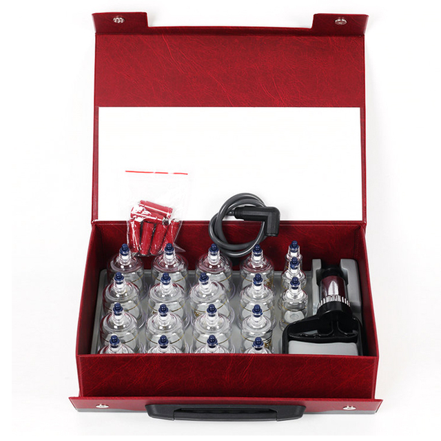 Vacuum Cans set Suction Cups Massage Ventouse Anti Cellulite Cupping Set Bank Physical Therapy Acupunture jars relax 19pcs /set