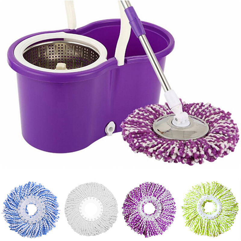 360 Rotating Replaceable Spin Mop Head Made with Microfiber for Household Floor Cleaning 2