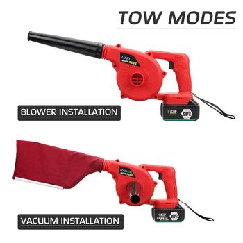 New Handheld Cordless Leaf Blower Dust Sweeper Vacuums 12800mAh Li-ion Battery Cordless Blower 220V