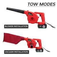 New Handheld Cordless Leaf Blower Dust Sweeper Vacuums 12800mAh Li ion Battery Cordless Blower 220V