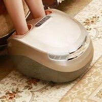 Electric Foot Massager Vibration Shiatsu Kneading Air Pressure Massage Machine Carbon Fiber Heating Device Massageador