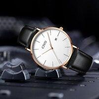 CIVO модные пояса из натуральной кожи часы для мужчин лучший бренд класса люкс водостойкие кварцевые наручные ультра тонки