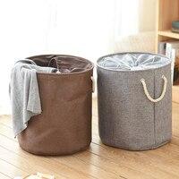 Foldable Dirty Clothes Laundry Basket Hamper Large Capacity Drawstring Beam Port Household Sundries Organizer Storage Baskets