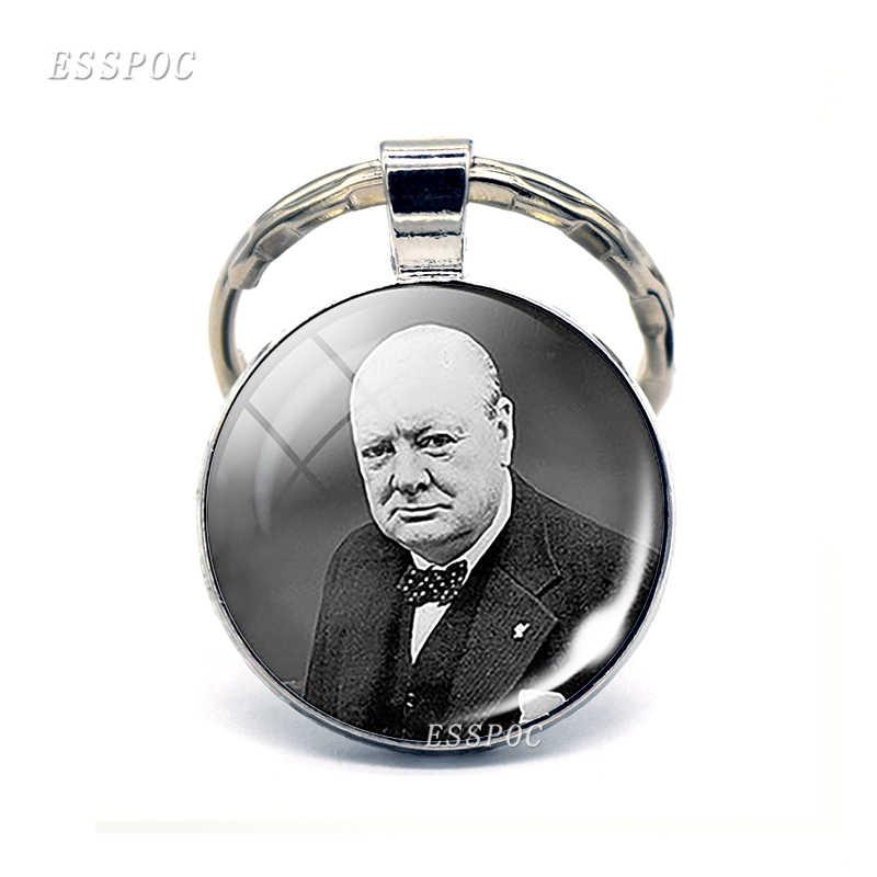 Англия Биг Бен брелок Британский Лондон сувенирный подарок флаг Великобритании карта елизания Черчилль стекло кабошон брелок кольца