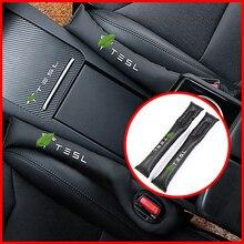 Сиденье для стайлинга автомобиля зазор наполнитель Органайзер герметичный коврик из искусственной кожи Подходит для tesla дополнительная наклейка для автомобиля для Tesla модель 3 X S