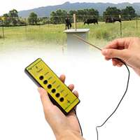 Farm Electrical Fence Voltage Tester Fencing Poly Wire Tape Rope Energiser Tool for Daily Fence Maintenance 13x4.5x1.5cm