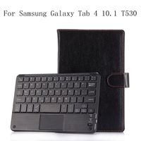 Magnetic Removable Detachable Wireless Bluetooth Case For Samsung Galaxy Tab 4 10.1 T530 T531 T535 PU Leather Cover Funda+gifts