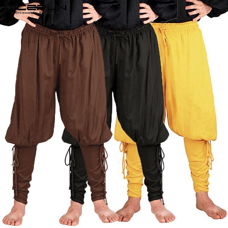 ca1978072af7 Medieval renacentista hombres vikingos pirata pantalones trajes ...