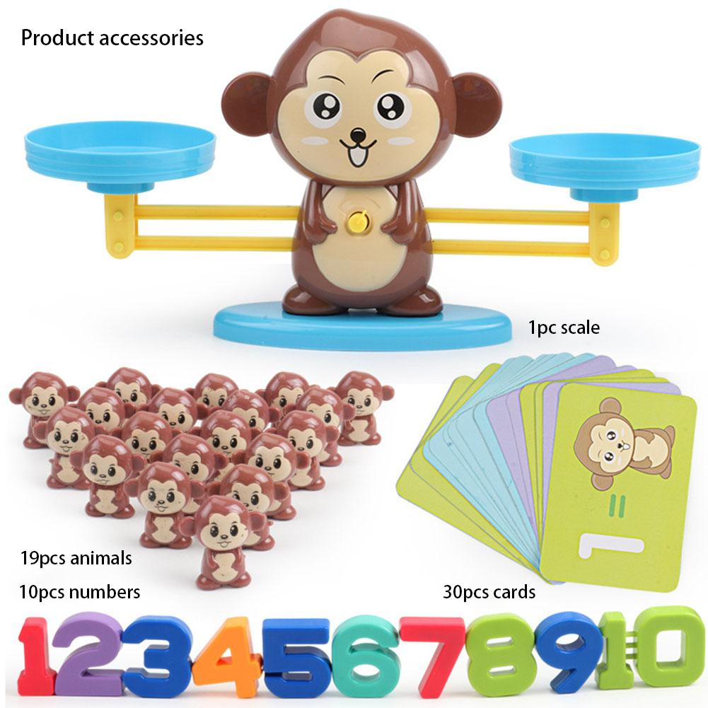 Children Early Education Toy Animal Balance Scale Mathematical Digital Addition Counting Teaching Tool Kids Family Table Game