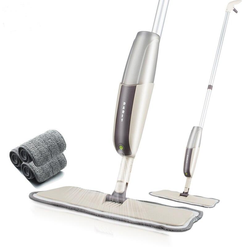 Pulverizador de assoalho mop kit com almofadas de microfibra reutilizáveis profissional lidar com mop para madeira laminado telha cerâmica limpeza