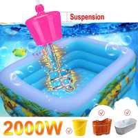 2000 Вт 2 м портативный Подвесной Электрический погружной водонагреватель элемент бойлер для надувного бассейна Ванна путешествия Кемпинг п...