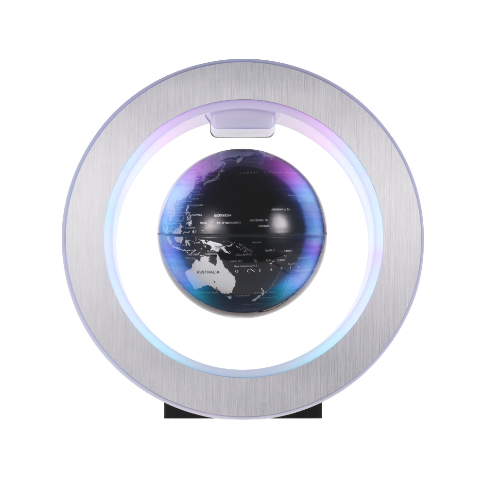 4 Inch Magnetic Levitation Floating Earth Globe World Map with LED Color Light Circular Shape Base