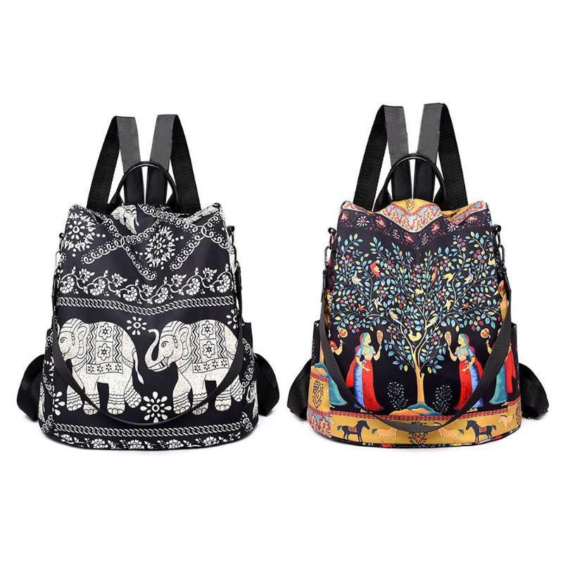 Mulheres oxford bagpack moda multifuncional mochila feminina anti roubo saco de escola para adolescentes meninas notebook sac a dos