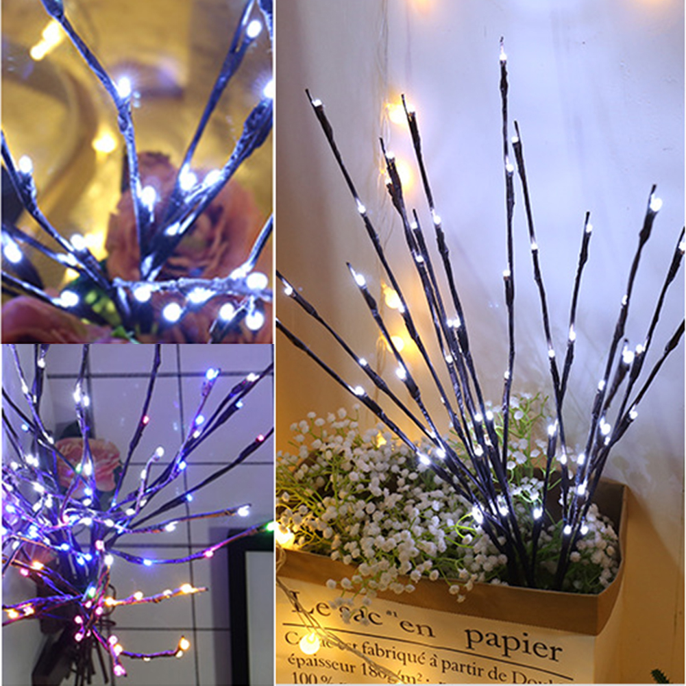 Sanyi Led Willow Branch Lamp Floral Night Lights 20 Bulbs