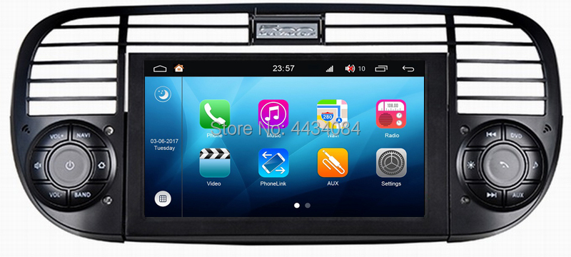 Ouchuangbo auto audio stereo gps bluetooth for Fiat 500 android 8.1 S200 platform aux usb mirror link HD video