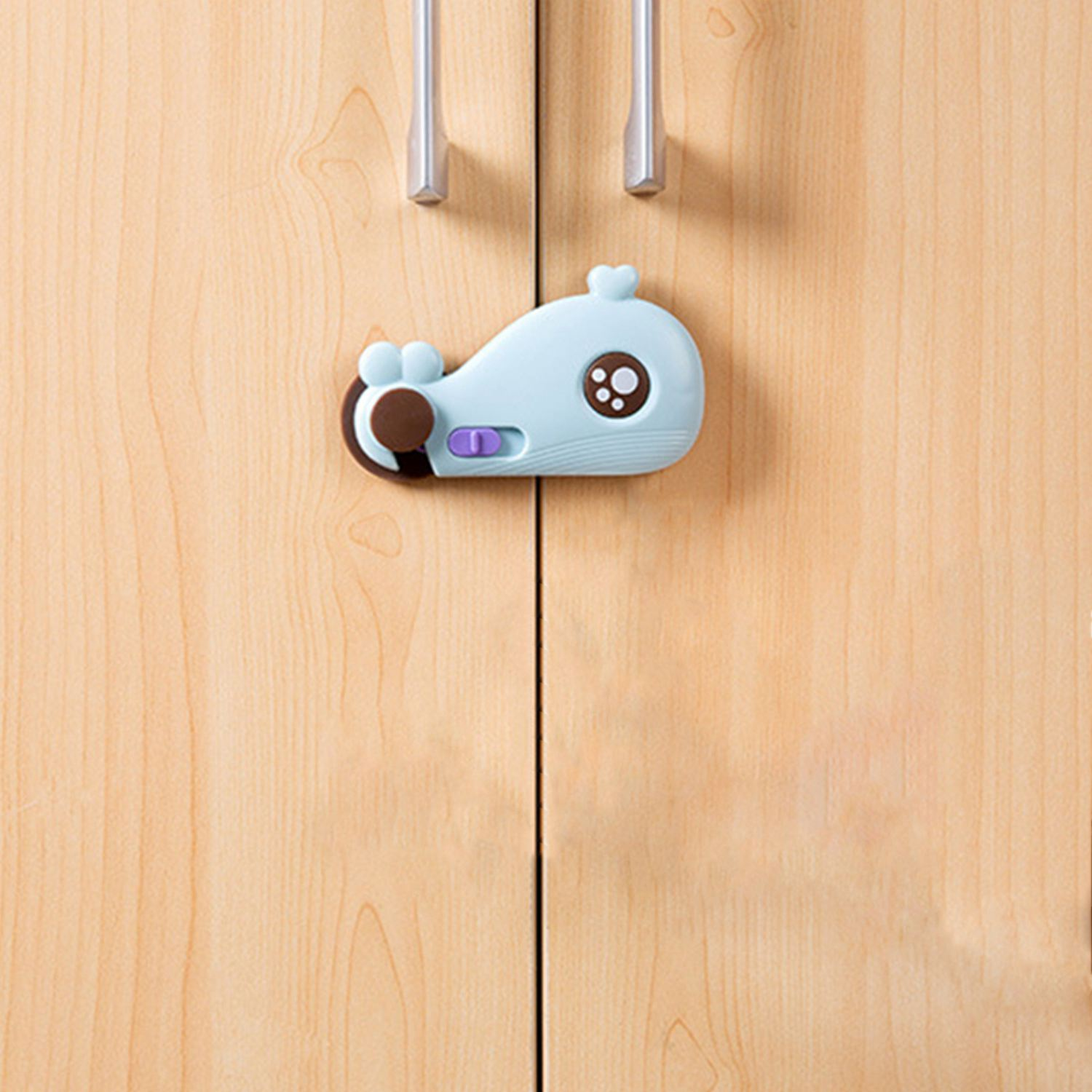 Cartoon Whale Shape Baby Safety Cabinet Door Lock Baby Kids Security Care Protector Lock For Drawer Refrigerator Cupboard