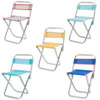 Cadeira dobrável de aço inoxidável ao ar livre cadeira de malha portátil fezes de pesca dobrável cadeira de viagem de acampamento cor aleatória|Cadeiras de pesca| |  -