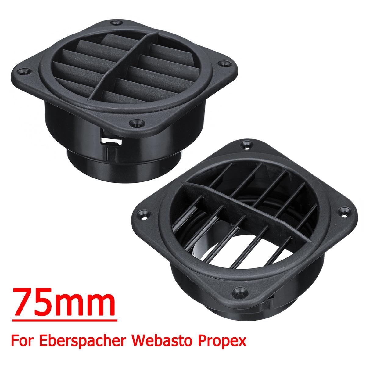Paar 75mm Auto Warme Air Vent Outlet Heizung Führung für Propex Eberspacher