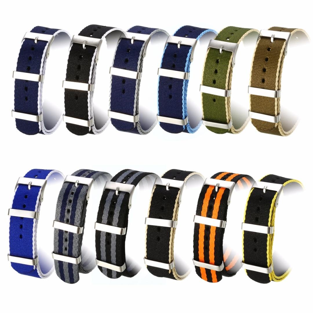 Unisex Replacement Watchband 20mm Fashion Military Nylon Watches Strap Sport WristWatch Band Straps Belt Watch Accessories