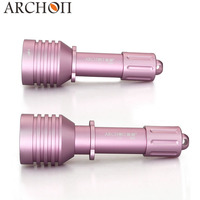 Archon Aluminum Pink D10U 6 68 Degree Zoomable Diving Torch Light 18650 Battery Underwater Photographing Light