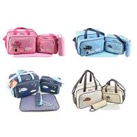 4pcs/set Mummy Bag Large Capacity Embroidery Travel Maternity Bag Diaper Baby Bag Set Multifunctional Nursing Bag