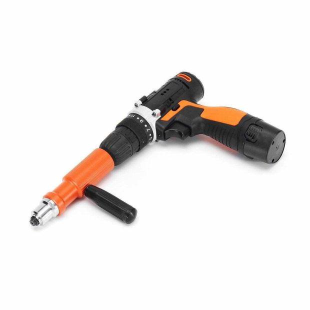 2.0mm - 4.8mm Electric Rivet Gun Adapter Head Cordless Riveting Tool Drill Adapter