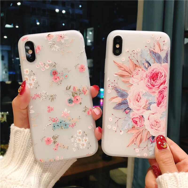 Kisscase 3D Relief Case Voor Samsung Galaxy Note 10 Plus J2 J3 J7 J5 2016 2017 A5 A6 A8 A7 2018 A9 Soft Silicon Cover Bloemen