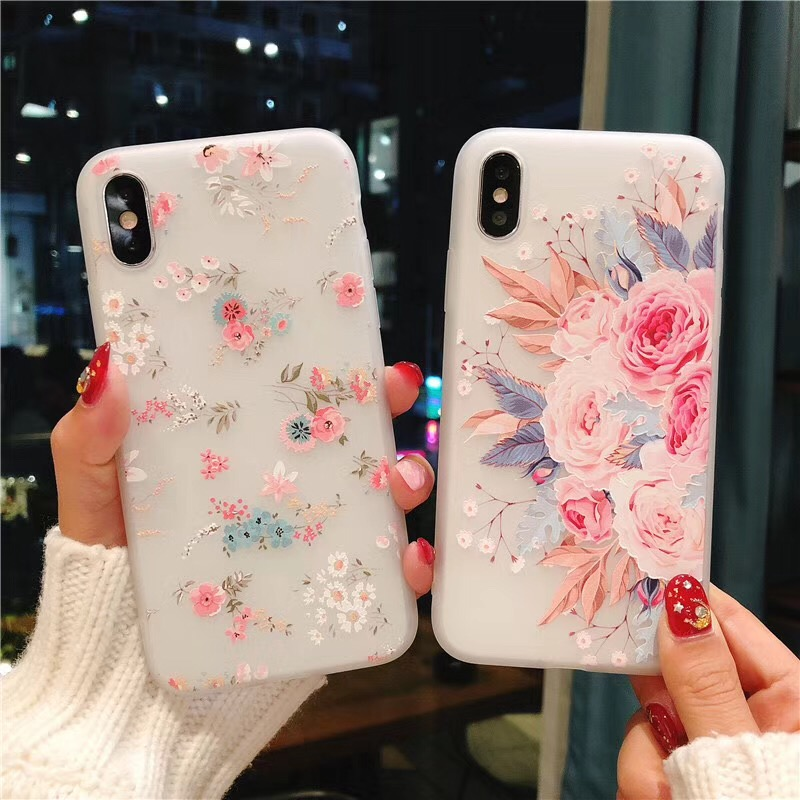 KISSCASE 3D Relief Case For Samsung Galaxy note 10 J2 J3 J7 J5 2016 2017 A5 A6 A8 A7 2018 A9 A9S Soft Silicon Back Cover Floral image