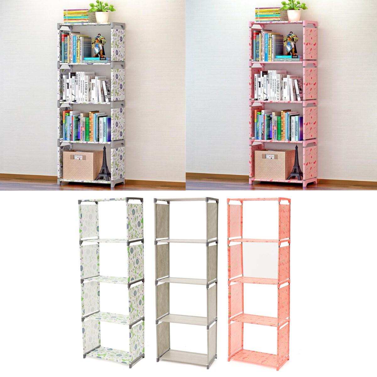 Us 25 05 28 Off Multi Tier Bookshelf Storage Shelf For Books Plants Sundries Diy Combination Cabinet Furniture Fabric Children Bookcase 4 Layer In