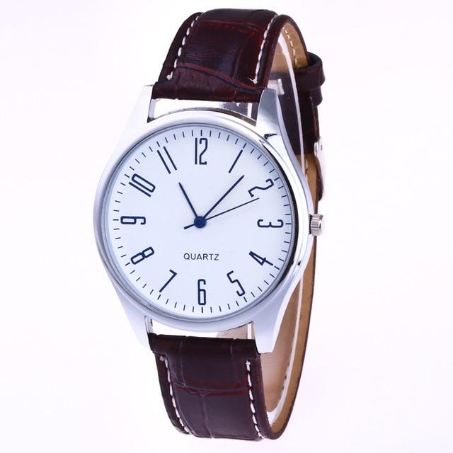 Casual Leather Waterproof Quartz Wristwatches Man Clock 4